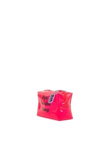 Bagmori  Kadın Baskılı Mini Makyaj Çantası M000006240 Fuşya
